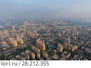 Купить «Residential area and river, Guangzhou city, China, aerial view», фото № 28212355, снято 21 августа 2015 г. (c) Losevsky Pavel / Фотобанк Лори