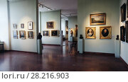 Купить «xposition in the Hungarian National Gallery (MNG), in the Buda Fortress. Budapest, Hungary», видеоролик № 28216903, снято 29 октября 2017 г. (c) Яков Филимонов / Фотобанк Лори