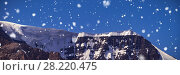 Купить «Snow capped mountain on a sunny day», фото № 28220475, снято 18 марта 2019 г. (c) Wavebreak Media / Фотобанк Лори