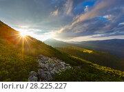 Купить «Summer Carpathian mountain, Ukraine», фото № 28225227, снято 18 августа 2016 г. (c) Юрий Брыкайло / Фотобанк Лори