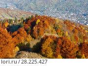 Купить «Autumn Carpathian mountain, Rakhiv, Ukraine», фото № 28225427, снято 18 октября 2017 г. (c) Юрий Брыкайло / Фотобанк Лори