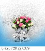 Купить «Blossom of beautiful flowers roses», фото № 28227379, снято 13 февраля 2018 г. (c) ElenArt / Фотобанк Лори