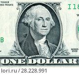 Купить «George Washington portrait from one dollars banknote», фото № 28228991, снято 18 февраля 2019 г. (c) FotograFF / Фотобанк Лори
