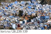 Купить «Blue city Chefchaouen in Morocco», фото № 28239139, снято 17 февраля 2018 г. (c) Михаил Коханчиков / Фотобанк Лори