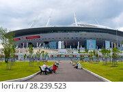 Купить «Зенит-арена. Футбольный стадион на Крестовском острове. Санкт-Петербург», эксклюзивное фото № 28239523, снято 25 июня 2017 г. (c) Александр Щепин / Фотобанк Лори