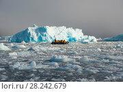 Купить «Beautiful view of icebergs in Antarctica», фото № 28242679, снято 11 марта 2018 г. (c) Vladimir / Фотобанк Лори