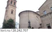 Купить «Church Of St. Benedict in Ferrara, Italy», видеоролик № 28242707, снято 24 ноября 2017 г. (c) BestPhotoStudio / Фотобанк Лори