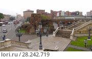 Купить «Bologna, Italy: ramps called Pincio Montagnola», видеоролик № 28242719, снято 21 ноября 2017 г. (c) BestPhotoStudio / Фотобанк Лори