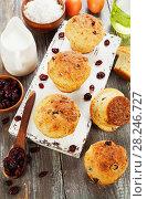 Купить «Muffins with dried cranberries», фото № 28246727, снято 15 декабря 2017 г. (c) Надежда Мишкова / Фотобанк Лори