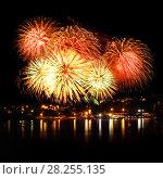 Купить «Celebratory bright firework», фото № 28255135, снято 8 августа 2015 г. (c) ElenArt / Фотобанк Лори