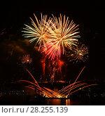 Купить «Celebratory bright firework», фото № 28255139, снято 8 августа 2015 г. (c) ElenArt / Фотобанк Лори