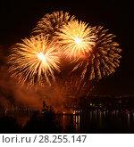 Купить «Celebratory bright firework», фото № 28255147, снято 8 августа 2015 г. (c) ElenArt / Фотобанк Лори