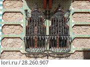 Купить «Casa Vicens is a house in Barcelona, designed by Antoni Gaudí», фото № 28260907, снято 31 марта 2018 г. (c) Ольга Визави / Фотобанк Лори