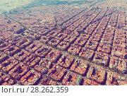 Купить «Aerial view of Barcelona, Catalonia», фото № 28262359, снято 1 августа 2014 г. (c) Яков Филимонов / Фотобанк Лори