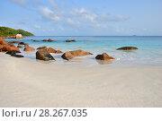 Tropical beach on Seychelles, Anse Lazio beach (2011 год). Стоковое фото, фотограф Знаменский Олег / Фотобанк Лори