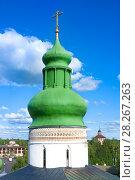 Купить «Dome of church in Kirillo-Belozersky monastery near City Kirillov, Vologda region», фото № 28267263, снято 13 августа 2016 г. (c) Papoyan Irina / Фотобанк Лори
