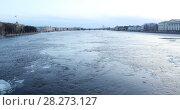 Купить «Панорама Санкт-Петербурга во время ледохода на Неве», видеоролик № 28273127, снято 7 апреля 2018 г. (c) Stockphoto / Фотобанк Лори