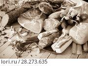 Купить «Variety of meats on table», фото № 28273635, снято 18 октября 2018 г. (c) Яков Филимонов / Фотобанк Лори