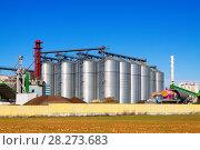 Купить «Depot territory with storage buildings», фото № 28273683, снято 8 декабря 2014 г. (c) Яков Филимонов / Фотобанк Лори