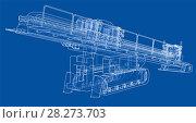 Купить «Horizontal directional drilling machine vector», иллюстрация № 28273703 (c) Кирилл Черезов / Фотобанк Лори
