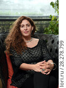 Купить «Annemarie Jacir during 'Wajib' film photocall, Rome, Italy 09 apr 2018.», фото № 28278799, снято 9 апреля 2018 г. (c) age Fotostock / Фотобанк Лори