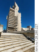 Купить «Image of City Hall in Satu Mare», фото № 28280227, снято 14 сентября 2017 г. (c) Яков Филимонов / Фотобанк Лори