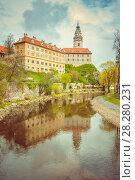 View of Cesky Krumlov. Bohemia, Czech Republic. Стоковое фото, фотограф Сергей Цепек / Фотобанк Лори