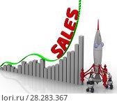 Купить «The graph of sales growth», иллюстрация № 28283367 (c) WalDeMarus / Фотобанк Лори