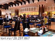 Купить «Ajman, UAE - April 8. 2018. restaurant at resort Bahi Palace», фото № 28297867, снято 8 апреля 2018 г. (c) Володина Ольга / Фотобанк Лори