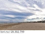 Купить «Beach on the Adriatic Sea. Rimini. Italy», фото № 28302799, снято 9 ноября 2013 г. (c) Евгений Ткачёв / Фотобанк Лори