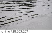 Купить «Video of water ripples and edge of an ice floe on Altai river Biya in Spring season», видеоролик № 28303267, снято 17 марта 2018 г. (c) Serg Zastavkin / Фотобанк Лори
