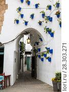 Купить «Испанская деревня в Барселоне - музей под открытым небом. Каталония, Испания», фото № 28303271, снято 6 апреля 2018 г. (c) Наталья Волкова / Фотобанк Лори