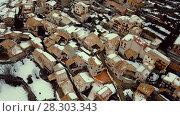 Купить «Nature of ancient city Gosol village and alpine in Catalonia from high in winter», видеоролик № 28303343, снято 23 марта 2018 г. (c) Яков Филимонов / Фотобанк Лори