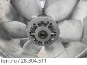 Купить «Powerful industrial fan. Climatic and ventilation technology.», фото № 28304511, снято 2 марта 2017 г. (c) Андрей Радченко / Фотобанк Лори