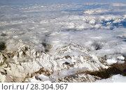 View of Caucasus Mountains from above. Стоковое фото, фотограф Володина Ольга / Фотобанк Лори
