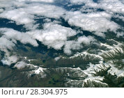 Caucasus Mountains from above. Стоковое фото, фотограф Володина Ольга / Фотобанк Лори