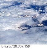 Caucasus Mountains is higher than clouds in Armenia. Стоковое фото, фотограф Володина Ольга / Фотобанк Лори
