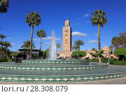 Купить «Minaret of the Koutoubia Mosque, 12th century, Marrakesh (Marrakech), Morocco, North Africa, Africa», фото № 28308079, снято 27 марта 2017 г. (c) age Fotostock / Фотобанк Лори