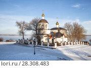 Купить «Церковь Константина и Елены, зимний пейзаж. Свияжск», фото № 28308483, снято 5 января 2018 г. (c) Юлия Бабкина / Фотобанк Лори