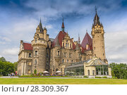 Купить «Fabulous castle in Moszna, near Opole, Silesia, Poland», фото № 28309367, снято 24 марта 2019 г. (c) BE&W Photo / Фотобанк Лори