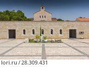 Купить «Church of Multiplication in Tabgha on the Sea of Galilee, Israel», фото № 28309431, снято 16 июня 2019 г. (c) BE&W Photo / Фотобанк Лори