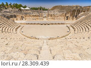Купить «Roman theater at Beit She'an also Scythopolis in the Jordan Valley, Northern District, Israel», фото № 28309439, снято 5 июня 2020 г. (c) BE&W Photo / Фотобанк Лори