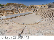 Купить «Roman theater at Beit She'an also Scythopolis in the Jordan Valley, Northern District, Israel», фото № 28309443, снято 5 июня 2020 г. (c) BE&W Photo / Фотобанк Лори