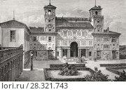 Купить «The Villa Medici, Rome, Italy, 19th Century.», фото № 28321743, снято 5 февраля 2018 г. (c) age Fotostock / Фотобанк Лори