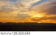 Купить «Desert sand dunes  sunrise zoom out  timelapse», видеоролик № 28323643, снято 26 марта 2018 г. (c) Кирилл Трифонов / Фотобанк Лори