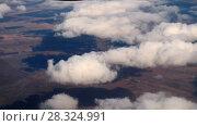 Купить «Aerial wiev from descending Airplane», видеоролик № 28324991, снято 20 апреля 2018 г. (c) Игорь Жоров / Фотобанк Лори