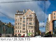 Лиговский проспект Вид на дом № 125 (2017 год). Редакционное фото, фотограф Pukhov K / Фотобанк Лори