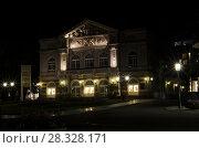 Ночной Баден-Баден. Театр. Германия. Стоковое фото, фотограф Яковлев Сергей / Фотобанк Лори