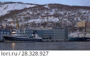 Купить «Петропавловск-Камчатский морской вокзал», видеоролик № 28328927, снято 23 апреля 2018 г. (c) А. А. Пирагис / Фотобанк Лори
