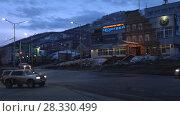 """Купить «Петропавловск-Камчатский, развлекательный центр """"Колизей""""», видеоролик № 28330499, снято 23 апреля 2018 г. (c) А. А. Пирагис / Фотобанк Лори"""
